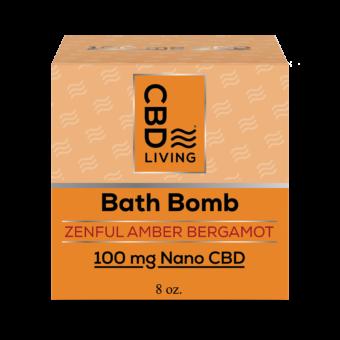 Bombe de bain effervescente au CBD - Amber Bergamot