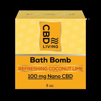 Bombe de bain effervescente au CBD - Coconut Lime