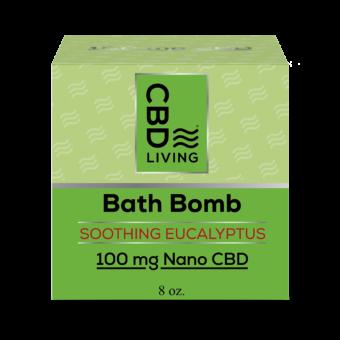 Bombe de bain effervescente au CBD - Eucalyptus