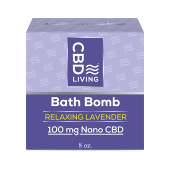 Bombe de bain effervescente au CBD - Lavande