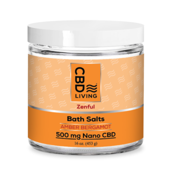 Sels de bain relaxants au CBD - Amber Bergamot