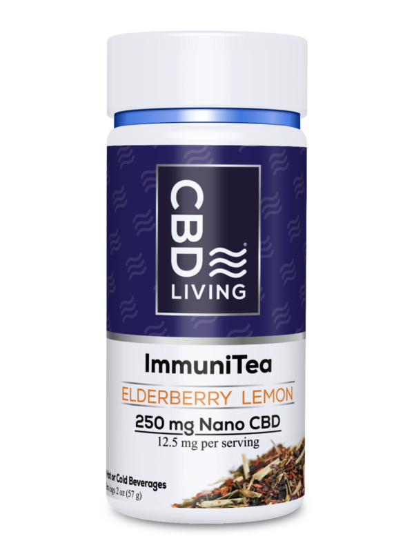 "Thé relaxant au CBD ""ImmuniTea"" - Elderberry Lemon"