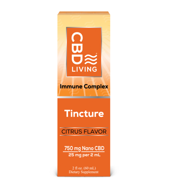 "Huile relaxante au CBD ""Immune Complex"" - 750MG"