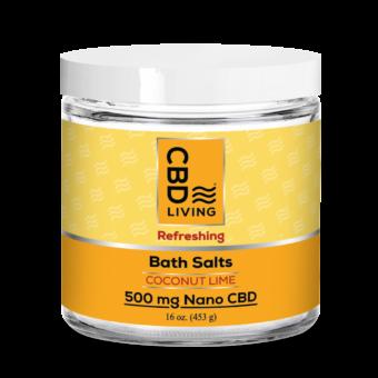Sels de bain relaxants au CBD - Coconut Lime
