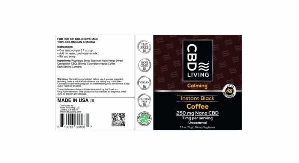 Café Arabica Colombien au CBD - Instant Black