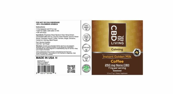 Café Arabica Colombien au CBD - Golden Milk